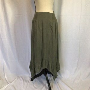 NWT Olive maxi skirt